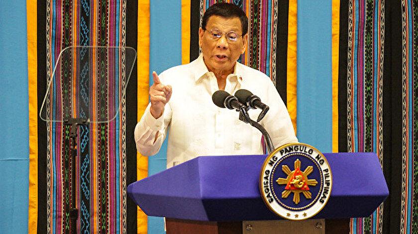 Filipinler Devlet Başkanı Rodrigo Duterte.
