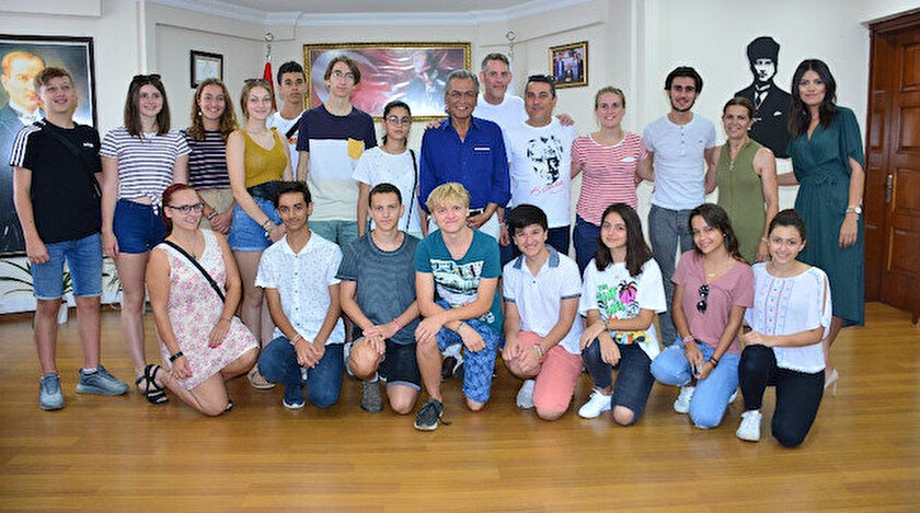 Alman gençler İzmir'in Torbalı ilçesini ziyaret etti.