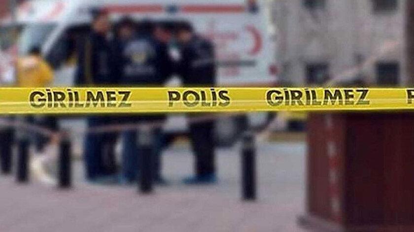 Olayın yaşandığı yere polisler güvenlik şeridi çekti. Fotoğraf: Arşiv.