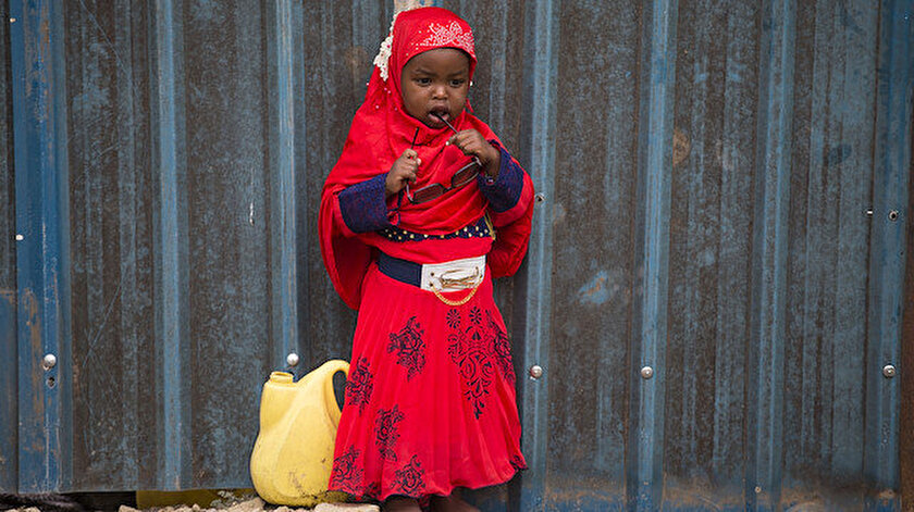 Kenya'da bir bayram çocuğu