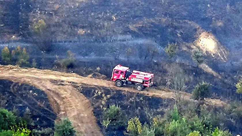 Biga'da orman yangını çıktı.