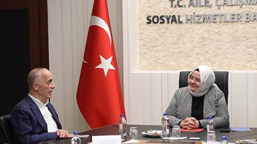 Çalışma Bakanı Selçuk ve Türk-İş Başkanı Atalay.