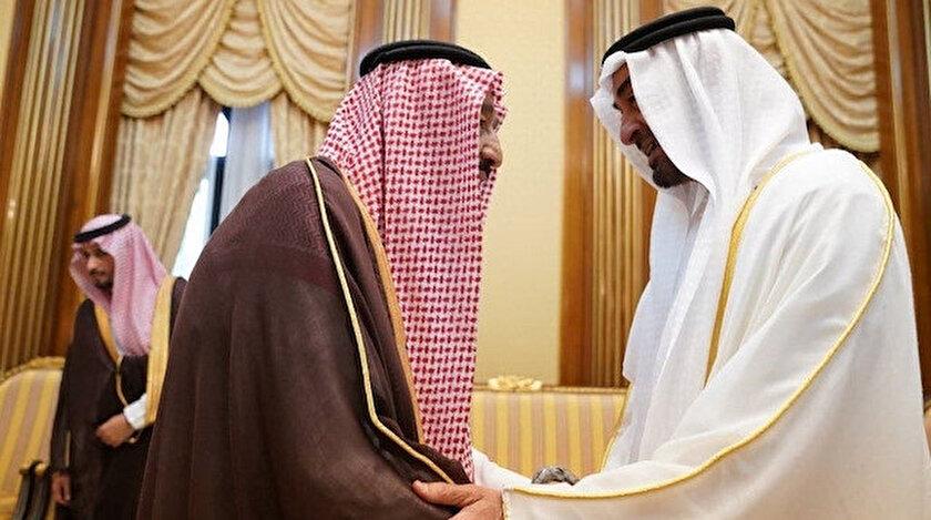 BAE Veliaht Prensi Muhammed bin Zayed ile Suudi Arabistan Kralı Selman bin Abdülaziz.