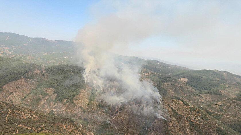 Ormanlık alandaki yangına büyümeden müdahale edildi. Fotoğraf: Arşiv.