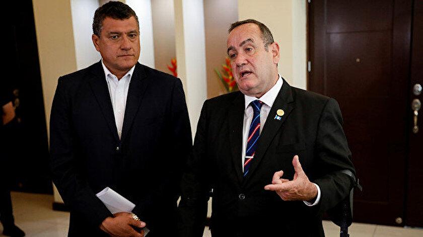 Orta Amerika ülkesi Guatemala'da devlet başkanı seçilen Alejandro Giammattei.