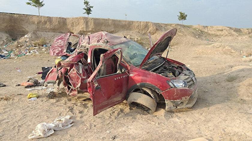 Veysel Akgün yönetimindeki otomobil hurdaya döndü.