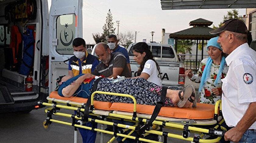 Olayda yaralanan kişiler hastaneye kaldırıldı.