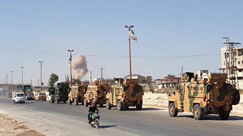 TSK konvoyunun güzergahı rejim güçlerinde vuruldu.