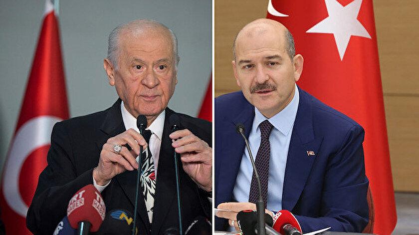 MHP Genel Başkanı Devlet Bahçeli - İçişleri Bakanı Süleyman Soylu