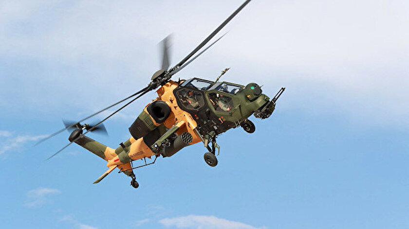 Aselsan tarafından üretilen ATAK helikopteri.