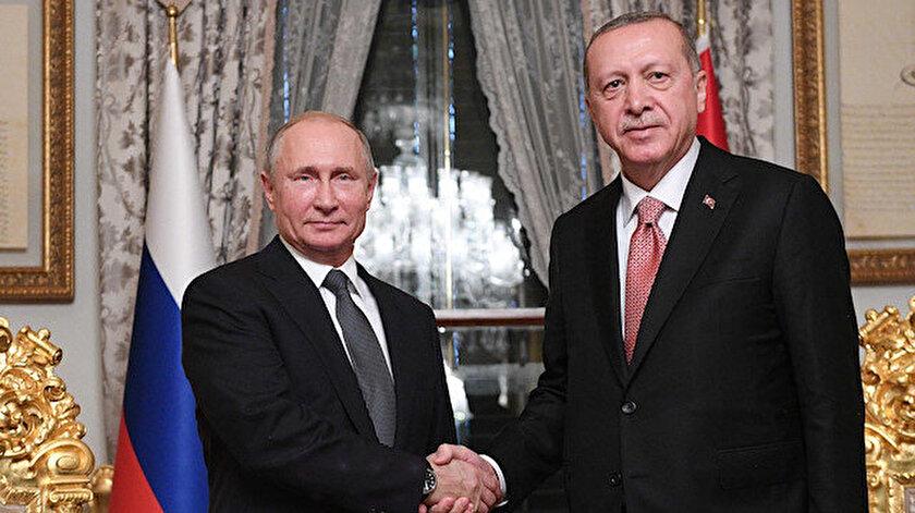 Rusya Devlet Lideri Putin ve Cumhurbaşkanı Erdoğan.