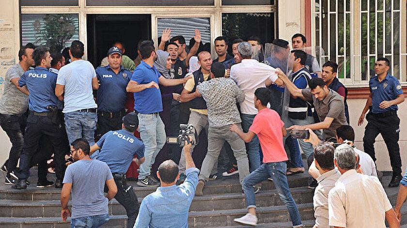 Acılı anne, HDP'liler tarafından saldırıya uğradı.