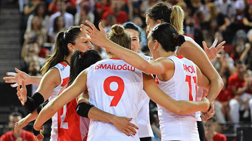 A Milli Kadın Voleybol Takımı,  yarı finale yükseldi.