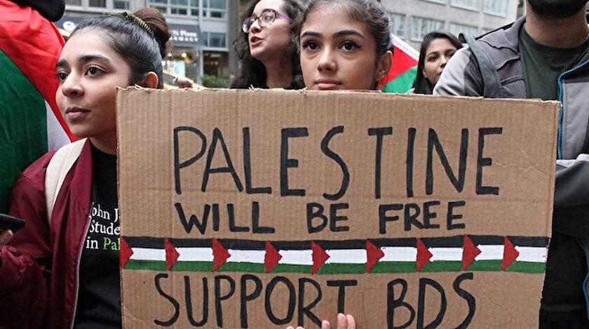 BDS protestolarından. (arşiv)