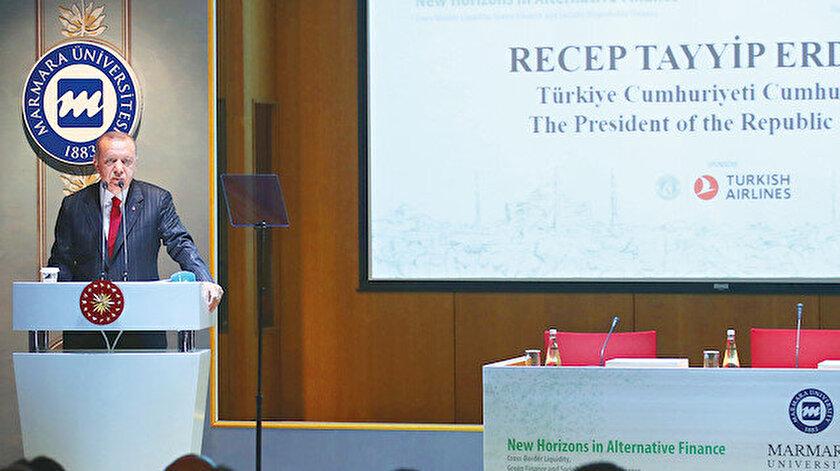 Cumhurbaşkanı Recep Tayyip Erdoğan Marmara Üniversitesi Rektörlük Binası'nda düzenlenen Alternatif Finansta Yeni Ufuklar: Likidite, Yeşil Finans ve Politik Ekonomi Konferansı'nda önemli mesajlar verdi.