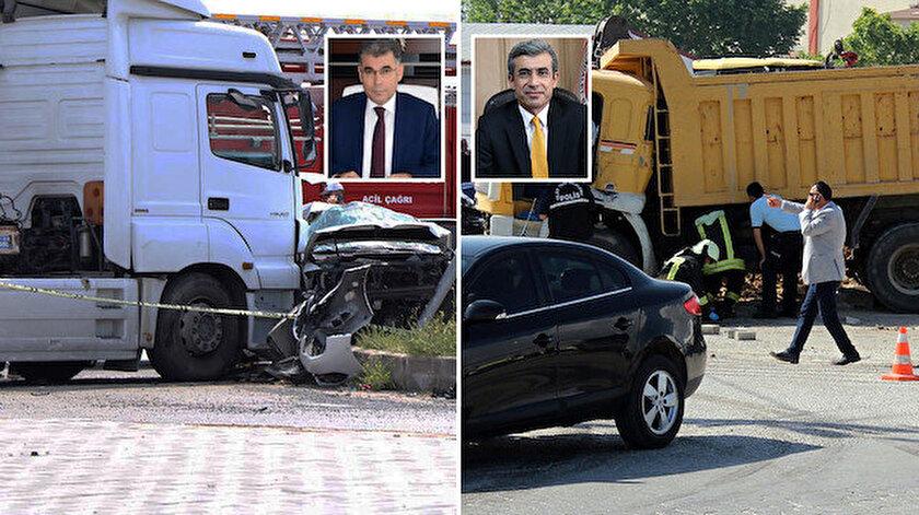 Kazım Karabörk ve Mustafa Alper trafik kazası.