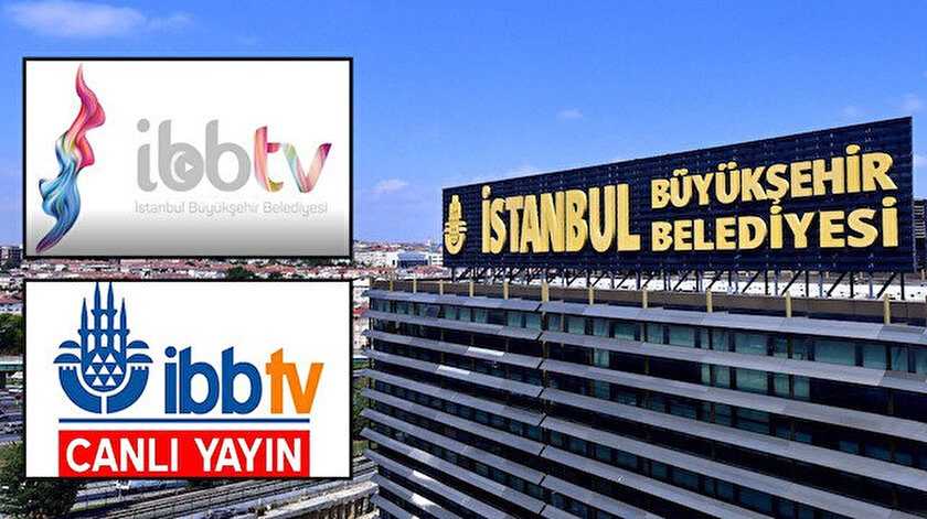 İBB TVnin yeni kaçak logosu: Minare gitti, renkli duman geldi
