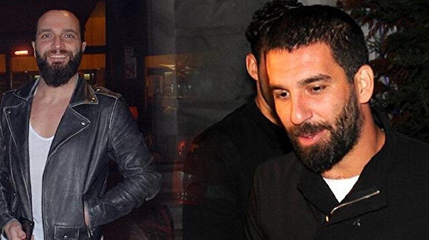 Futbolcu Arda Turan ve şarkıcı Berkay Şahin.