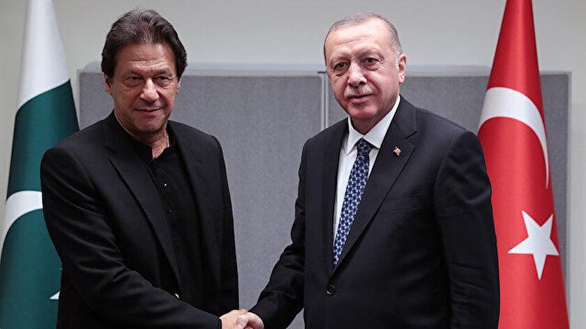 Cumhurbaşkanı Recep Tayyip Erdoğan ve Pakistan Başkanı İmrah Han, ABD'de bir araya gelmişti.