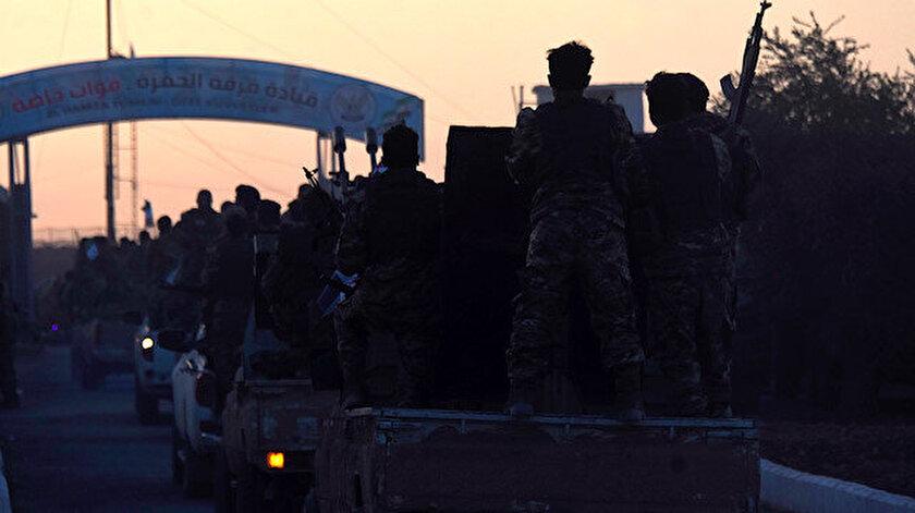 Suriye Milli Ordusuna bağlı Hamza Tümeni askerleri.