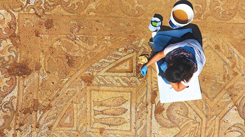 Mozaik, özelliklerine bakılarak 5'inci ya da 6'ncı yüzyıl dönemine tarihleniyor.