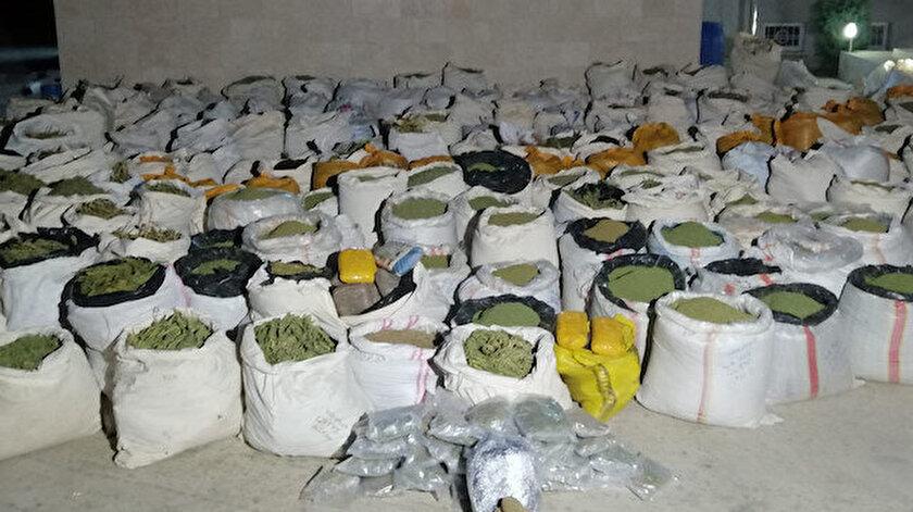 Lice'de terör örgütüne büyük darbe: 5 ton 312 kilo esrar ele geçirildi.