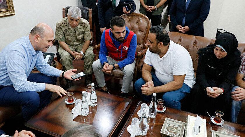 Bakan Soylu, başsağlığı dilediği aileyi telefonla aradığı Cumhurbaşkanı Erdoğan ile konuşturdu.