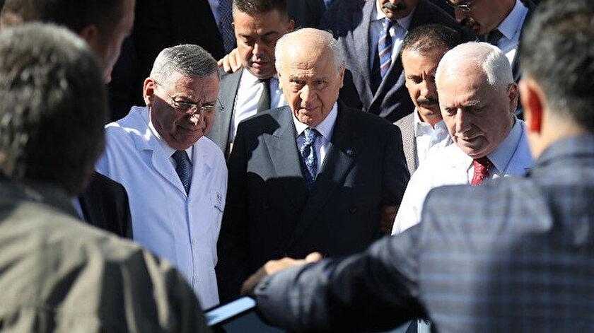 MHP lideri Bahçeli, üst solunum yolu rahatsızlığı nedeniyle tedavi altına alınmıştı.