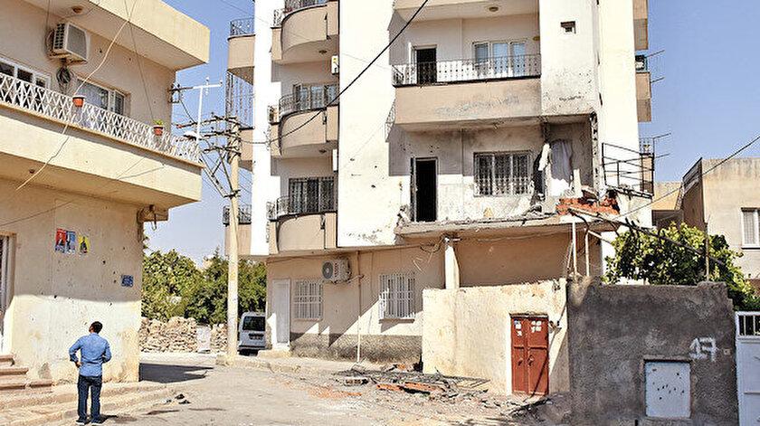 Nusaybin'deki saldırının izleri böyle görüntülendi.