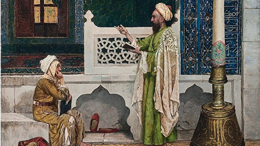 Yeşil Cami'de Kuran Dersi tablosu