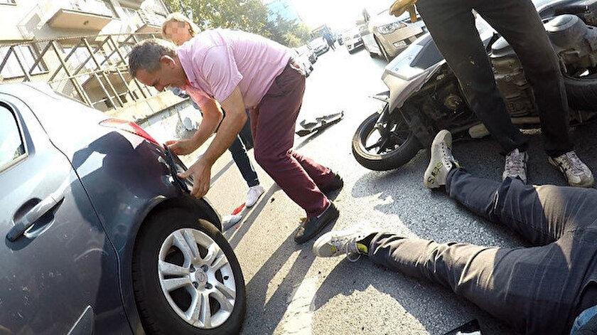 İstanbul Zincirlikuyuda kasap et, koyun can derdinde dedirten kaza: Yaralının değil aracının derdine düştü