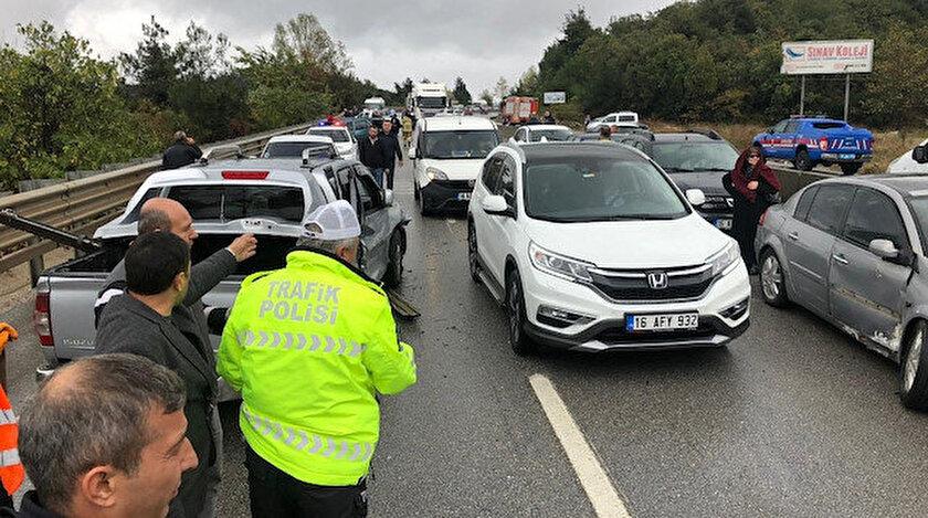 Bursa haberleri: Bursa'da sis yüzünden 16 araç birbirine girdi!0