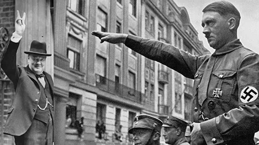 Churchill ve Hitler selamı