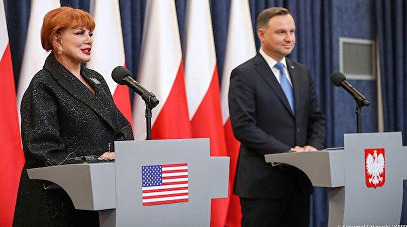 Polonya Cumhurbaşkanı Duda, ABD'nin Varşova Büyükelçisi Mostbacher.