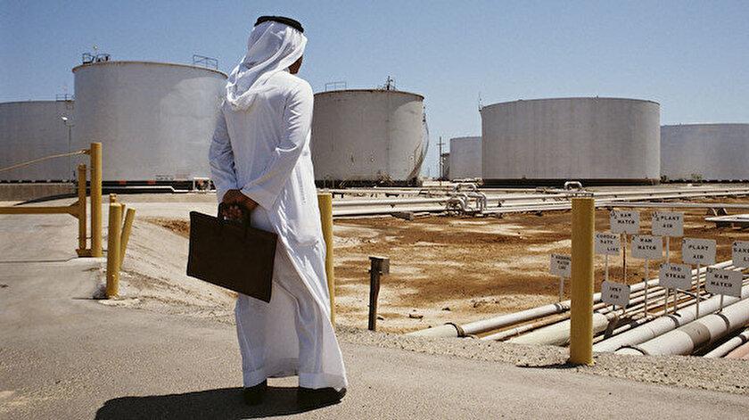 Suudi Arabistan'ın devlet petrol şirketi Aramco 'ya ait petrol üretim tesisi.