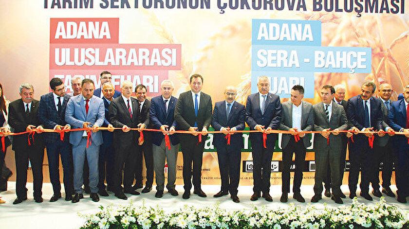 TÜYAP Adana 13. Uluslararası Tarım ve Sera- Bahçe Fuarları görkemli bir törenle açıldı.