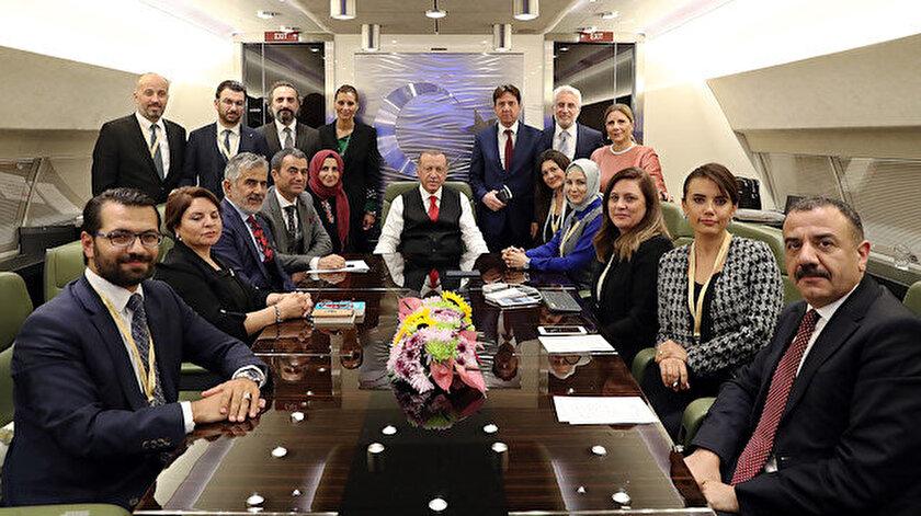 Cumhurbaşkanı Recep Tayyip Erdoğan, Macaristan ziyareti dönüşü uçakta aralarında TVNET Yayın Müdürü İsmail Halis'in de yer aldığı gazetecilerin sorularını cevapladı.