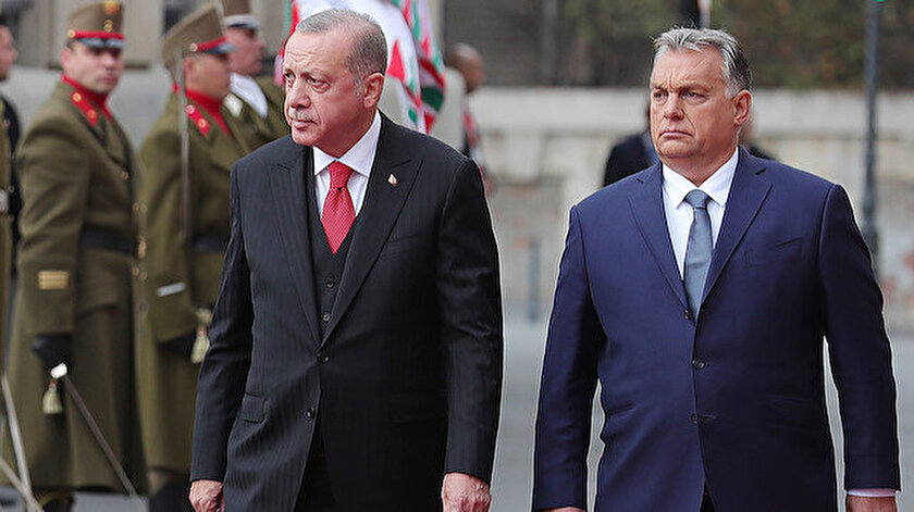 Cumhurbaşkanı Erdoğan ve Macaristan Başbakanı Victor Orban.