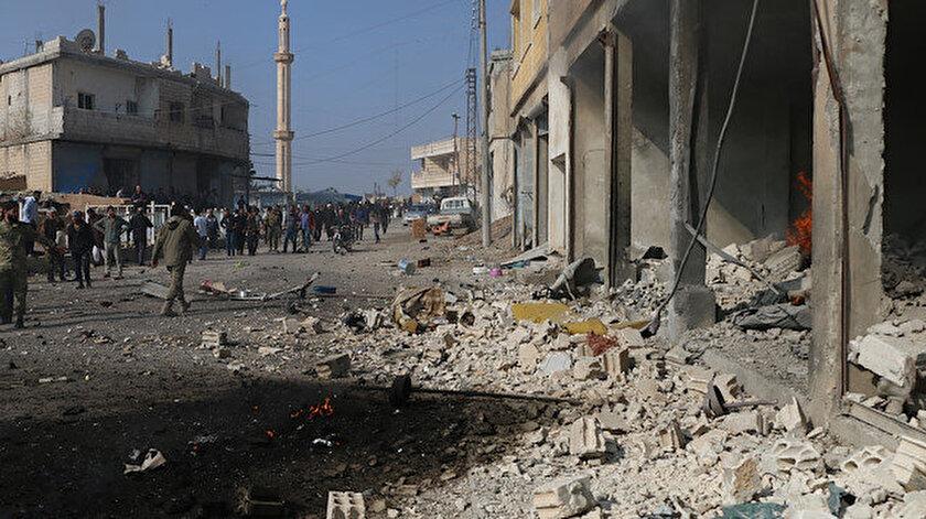 YPG'li teröristlerden temizlenen Tel Abyad'a yönelik bombalı araçla saldırı düzenlendi.