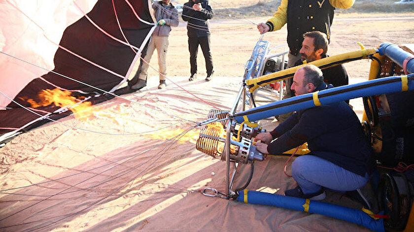 Sanayi ve Teknoloji Bakanı Mustafa Varank, ilk yerli sıcak hava balonunu denedi.