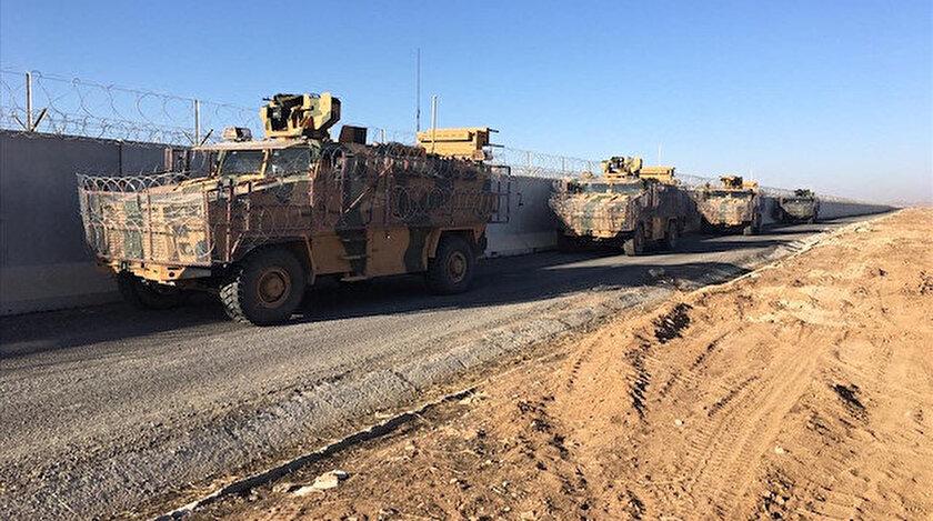 Rus askerleri ile Fırat'ın doğusunda icra edilen kara devriyesi