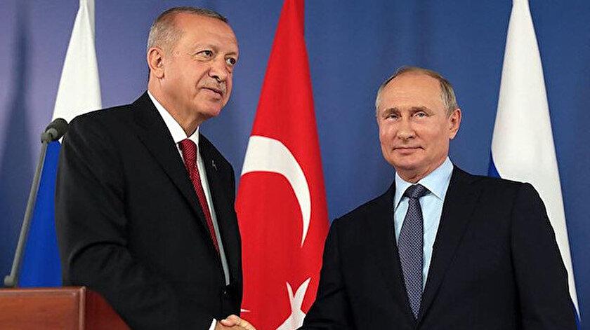 Cumhurbaşkanı Erdoğan ile Rusya Devlet Başkanı Putin