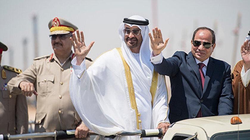 Libya'da darbeci general Hafter, BAE Veliaht Prensi Muhammed bin Zayed ve Mısır'ın darbeci Cumhurbaşkanı Abdulfettah Sisi
