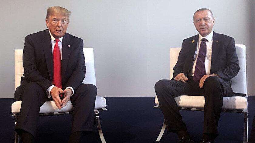 Cumhurbaşkanı Erdoğan,ABD Başkanı Trump ile bir araya geldi.