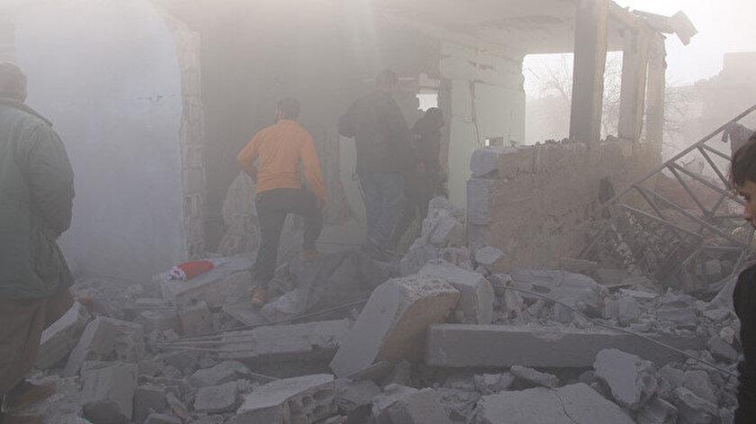 İdlib'de Esed rejiminden hava saldırısı