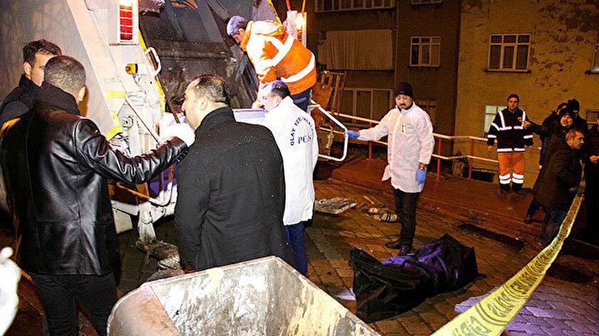 Samsun'da çöp kamyonunda erkek cesedi bulundu.