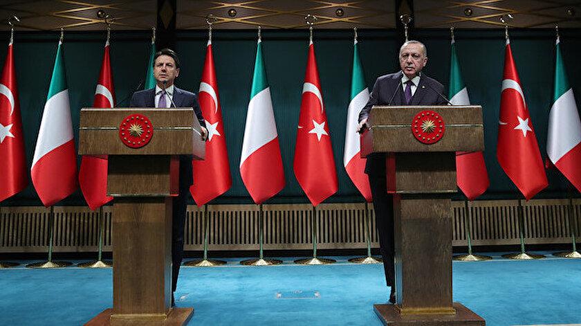 İtalya Başbakanı Conte - Cumhurbaşkanı Erdoğan