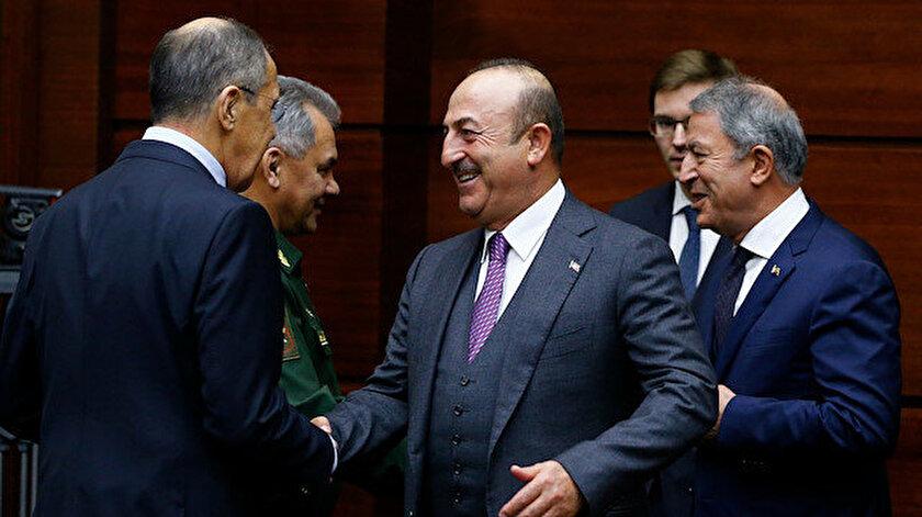 Mevlüt Çavuşoğlu ve Hulusi Akar Rus mevkidaşları ile