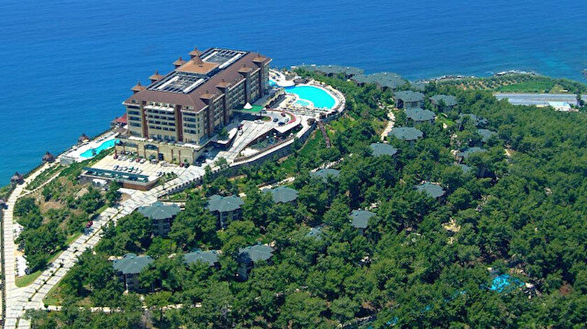 Antalya Alanya'daki Utopya Turizm'e ait Utopia World Hotel.