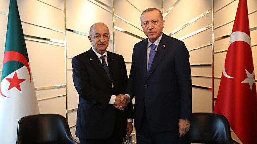 Cumhurbaşkanı Recep Tayyip Erdoğan ile Cezayir Cumhurbaşkanı Abdülmecid Tebbun
